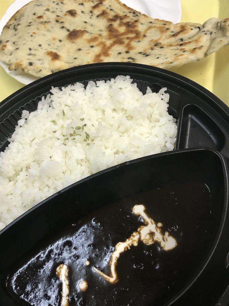 国産牛肉ピリ辛カレーと自家工房焼きのナンセット